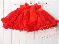 Children's short skirt baby pop pettiskirt girl's colorful skirt fluffy  12color girl Skirt  2-5 year