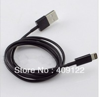 Free shipping CN 1pcs 8pin to USB Cable for iPhone5 USB 2.0 Cable for iPhone 5 iPod black