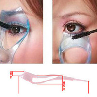 Three-dimensional Crystal 3in1 Eyelash Curler Card Mascara Applying Applicator Device