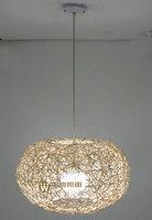 FEE SHIPPING Pumpkin rattan Pendant LAMPs flat ball rattan lamp pendant light restaurant lamp bedroom lamp