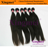 Free shipping 3 pieces/lot natural color 4A grade straight virgin remy brazilian human hair extension