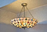 EMS FREE SHIPPING Multicolour fashion rustic tiffany lamp shell dining room pendant light lighting 21 phoeni