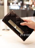 2013 Hot Designer Purse 2013 CC Plaid Women's Sheepskin Leather Purse Wallet Case Long and Short Designer Fashion on Sale
