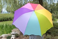 Free Shipping! High Quality Fashion Folding Rainbow Sun Umbrella Rain Umbrella