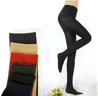 Free Shipping Classic Fashion Warm Plush velvet Footed Pantyhose stockings for Ladies, Green, Blue, Red, Black