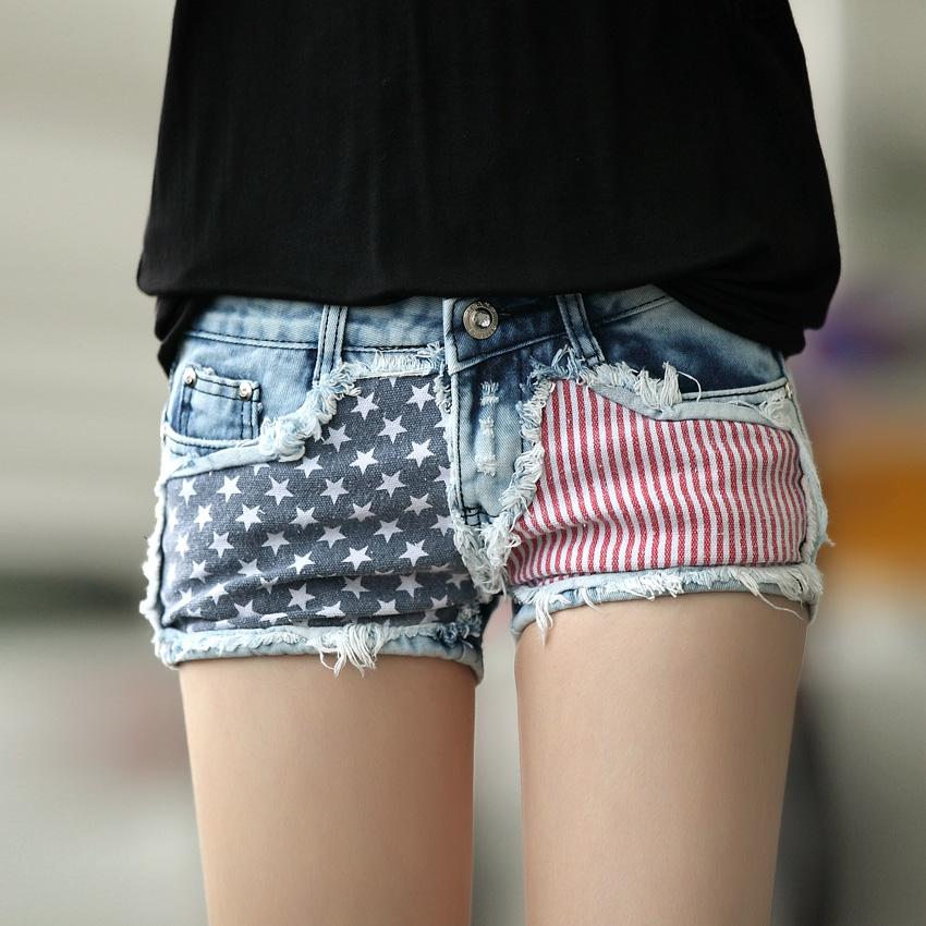 [해외]Free shopping 2014 summer short jeans loose denim Boo..
