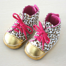 Baby's Flexible Soft Soled  Leopard baby Shoe Age 3-6 6-12 12-18 Months YBB-0147-1(China (Mainland))