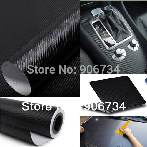Cool Fashon DIY Carbon Fiber Wrap Roll Sticker For Car Auto Vehicle Detailing 127CMx30CM(China (Mainland))