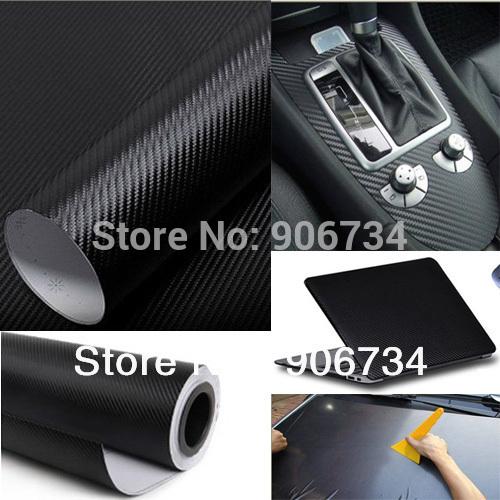 Cool Fashon DIY Carbon Fiber Wrap Roll Sticker For Car Auto Vehicle Detailing 127CMx30CM(China (Mainland))