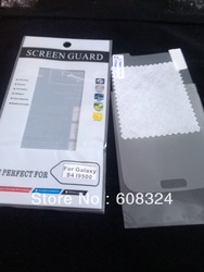For Galaxy S4 Screen protector free cloth or With retail packaging100pcs/lot FEDEX/DHL/EMS free shipping(China (Mainland))