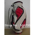Free shipping, wholesale, pu, golf bag, high quality, fashinable,  golf staff bag, white golf bag