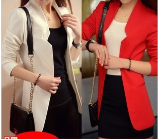 2013 spring  hot sale medium-long women blazer ladies jacket  OL casual suit  shoulder pads fashion outwear  plus size freeship