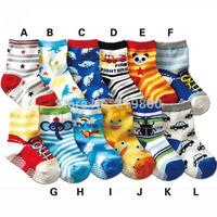 baby cartoon child socks multicolour non-slip socks 1 - 3 years old