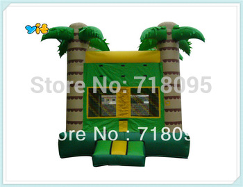 tropical tree inflatable castle, jungle jumper