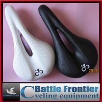 new deisign 28*14*5cm 1204 brand Ergonomics PU-leather 309g middle hollow mtb bicycle saddle/cycling seat/black white bike parts