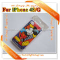 20pcs/lot Newest Hard Cartoon Graffiti Abstract Cases for iPhone 4 4s MICKEY DOG FROG BEAR Glossy Phone Covers Freeshipping