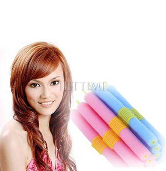12PCS Soft Foam Bendy Hair Rollers Curlers Cling Strip #6135