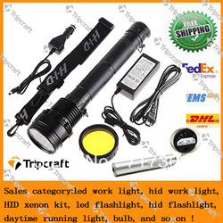 Black Silver 85W 65W 45W 8500Lumen HID Xenon 7800mAh Smart Torch Flashlight NEW Rechargeable HID Flashlight lamp Xenon Torch(China (Mainland))