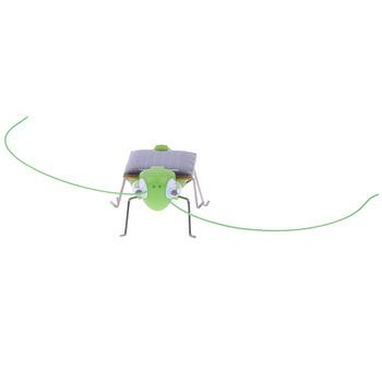 5pcs/lot Mini Solar energy Power Robot Insect Bug Locust Grasshopper Toy kids Gadget Gift16072