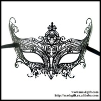 MD002-BK EMS Free Shipping Wholesale Luxury Black Metal Finest Laser Cut With A+ Rhinestones For Ball