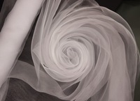 Big Sale!!! High Quality - WHITE ORGANZA For Background Of Wedding Decoration,1.5 M x110 Meters/Roll, Factory Price