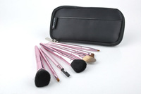Big Discounts High quality 7 Pcs Set Makeup Brush Cosmetic Brushes Set +Black Bag Kit  Makeup Brush make up brushes