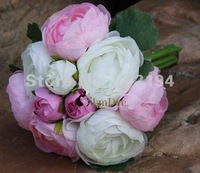 10pcs flower x Korean Tea Rose Bride Handing flower for Wedding bridal bouquets in free shipping