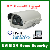 Home CCTV Security 2.0M 4mm lens 1600X1200 2pcs Leds Outdoor HD IP Network IR Camera