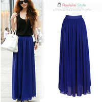 Amazing Chiffon Long Skirt 2013 New Fashion Hot Sales Bohemian Princess Skirt High Quality Welcome Drop Shipping