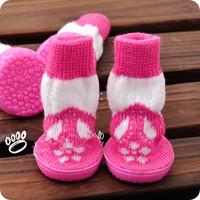 4pcs/set Pet Dog Cat Foot Wear  Shoes socks