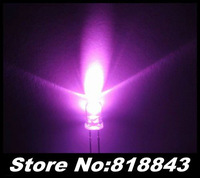 1000pcs New 3mm Round Pink Ultra Bright Water Clear LED Lamp
