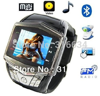 Free shipping by Netherlands Post! Fashionable Quad-bands  Wristed watch mobile phone GD910; Support mp3,mp4,bluetooth,camera.