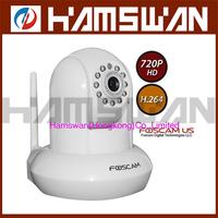 1x Foscam FI9821W WHITE  HD H.264 Wireless Web IP Security Camera IR 1280*720 HD white