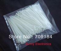 "Free Shipping 1000 PCS 6"" inch 2mm X 150mm White Cable Wire Zip Ties Nylon Cable Tie"