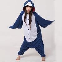 New Adult Animal Shark Cosplay Pajamas Sleepwear Costume Onesie