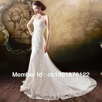 The bride wedding dress the new 2013 small trailing tail spring han edition dress princess wedding dress