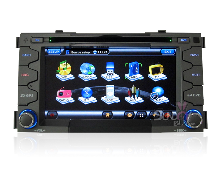 7 Inch 2 Din Kia Soul OME-Fit In-dash Car DVD Player with GPS Navigation Stereo Radio TV(China (Mainland))