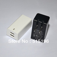 Adequate Dual 2.1A 10W USB Charger Power Adpater for iPad 3 iPhone 4 4s AC 100-240V USA Plug