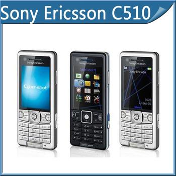Freeshopping original Sony Ericsson C510 Cellphone with bluetooth USB java mp3 player 3.15MP Camera moblie phone