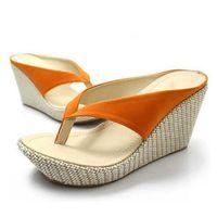 Free shipping 20134 New summer sandals shoes for women Elegant wedges platform flip flops sandals plus size beach slippers 33-41
