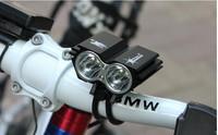 Free shipping Hot 5000 Lumen 2x CREE XM-L U2 LED Cycling Front Head Bicycle bike HeadLight Headlamp Light Lamp 6400mAh battery