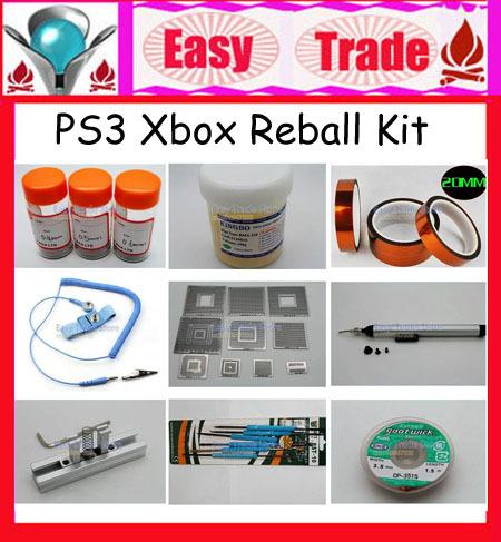 PS3 Xbox Direct Heating BGA Reballing Kit with 10PCS Stencils+Reball Station Jig+Solder Flux Pate+Reball Acc, FREE SHIPPING(China (Mainland))