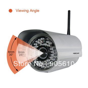 Foscam FI8905W Outdoor Wireless silver IP Camera 6mm lens Night Vision WiFi IP Bullet Camera 60IR FREE SHIP