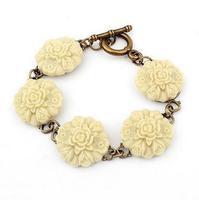 Nice Fashion Vintage Lover Bracelet Resin Flower Chain Link Bracelet For Women   AB150
