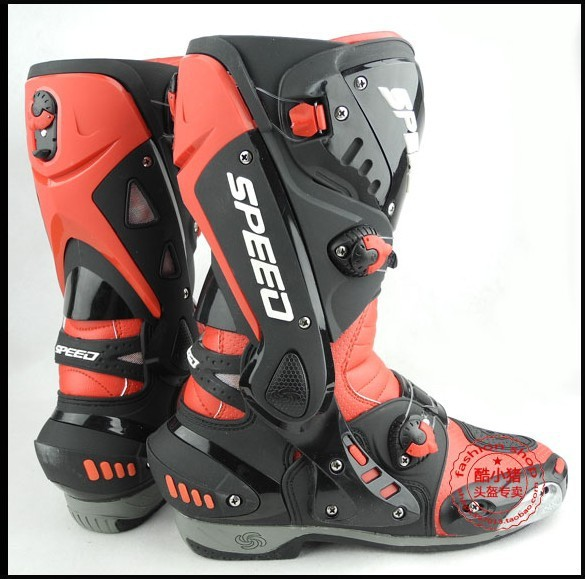 Free shipping New 2013 motorcycle boots Pro Biker SPEED Racing Boots,Motocross Boots,Motorbike boots SIZE:40/41/42/43/44/45 Red(China (Mainland))