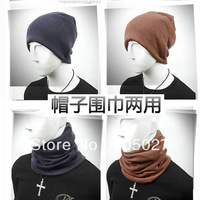 2013 fashion trend winter thermal scarf collars dual hat or scarf lovers design muffler scarf men and women