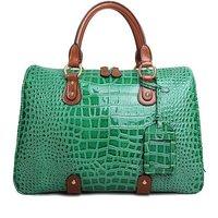 Shiny Crocodile Grain Handbags Genuine Leather Totes Bags Women 2012 New Brand Designer Shoulder Bag WITH BOX PACKAGE*GL036