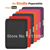 Kindle paperwhite leather case slim smart cover case for Amazon kindle paperwhite Wholesale 1pcs/lot Free shipping