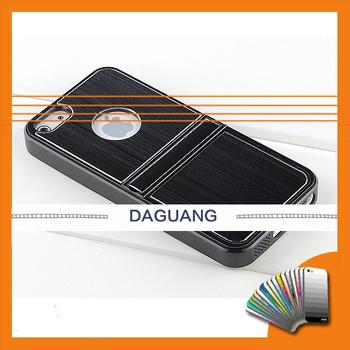 Hot Sale Free Shipping Silver/Black Luxury Brushed Metal Aluminum Chrome Hard Case For i Phone 5 5G