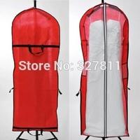 The bride wedding dress cheongsam practical dust cover Non-woven folding l bag dual-purpose dustproof set on sale